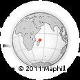 "Outline Map of the Area around 13° 55' 11"" S, 50° 13' 30"" E, rectangular outline"