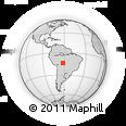 Outline Map of El Torno, rectangular outline
