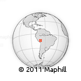 Outline Map of Macusani, rectangular outline