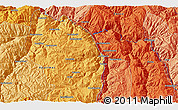 """Political 3D Map of the area around 13°55'11""""S,72°10'30""""W"""