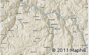 """Shaded Relief Map of the area around 13°55'11""""S,72°10'30""""W"""