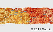 """Political Panoramic Map of the area around 13°55'11""""S,72°10'30""""W"""