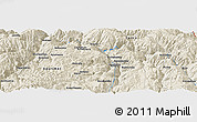 """Shaded Relief Panoramic Map of the area around 13°55'11""""S,72°10'30""""W"""