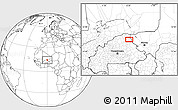 Blank Location Map of Dori