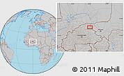 Gray Location Map of Dori
