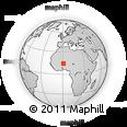 Outline Map of Kaba Bangou, rectangular outline