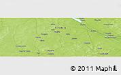 Physical Panoramic Map of Sara Koyra