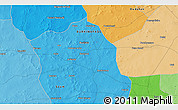 Political 3D Map of Ouzéni