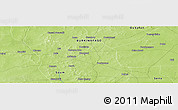 """Physical Panoramic Map of the area around 14°15'49""""N,0°46'30""""W"""
