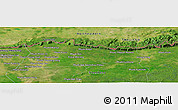 "Satellite Panoramic Map of the area around 14° 15' 49"" N, 103° 46' 30"" E"