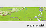 """Physical Panoramic Map of the area around 14°15'49""""N,105°28'29""""E"""