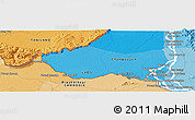 """Political Panoramic Map of the area around 14°15'49""""N,105°28'29""""E"""