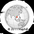 Outline Map of Đắk Đoa, rectangular outline