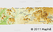 """Physical Panoramic Map of the area around 14°15'49""""N,108°1'30""""E"""