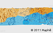 """Political Panoramic Map of the area around 14°15'49""""N,108°1'30""""E"""