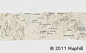 "Shaded Relief Panoramic Map of the area around 14° 15' 49"" N, 108° 1' 30"" E"