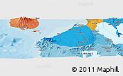 Political Panoramic Map of San Pedro