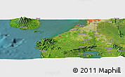 Satellite Panoramic Map of San Pedro