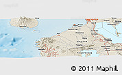 Shaded Relief Panoramic Map of San Pedro