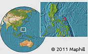 """Satellite Location Map of the area around 14°15'49""""N,124°10'30""""E"""