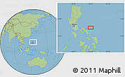 "Savanna Style Location Map of the area around 14°15'49""N,124°10'30""E"