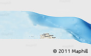 """Shaded Relief Panoramic Map of the area around 14°15'49""""N,124°10'30""""E"""