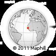 Outline Map of Kaolack, rectangular outline