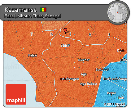 Free Political Map of Kazamanse