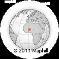 Outline Map of Tadarast, rectangular outline