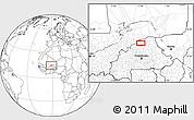 Blank Location Map of Djibo