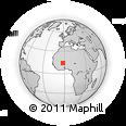 Outline Map of Bargo, rectangular outline