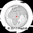 Outline Map of Al Manāqil, rectangular outline
