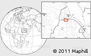 Blank Location Map of Ādī Terekbē