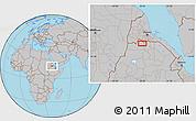 Gray Location Map of Enda Mariam Goresa