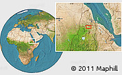 Satellite Location Map of Ādī Terekbē