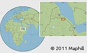 "Savanna Style Location Map of the area around 14°15'49""N,40°1'29""E"