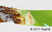 "Physical Panoramic Map of the area around 14° 15' 49"" N, 40° 1' 29"" E"