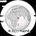Outline Map of Juban, rectangular outline