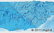 """Political 3D Map of the area around 14°15'49""""N,48°31'29""""E"""