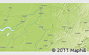 """Physical 3D Map of the area around 14°15'49""""N,4°10'30""""W"""