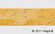 Political Panoramic Map of Mopti