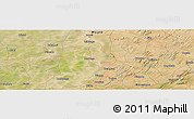Satellite Panoramic Map of Mopti