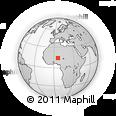 Outline Map of Madaoua, rectangular outline