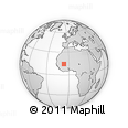 """Outline Map of the Area around 14° 15' 49"""" N, 6° 43' 29"""" W, rectangular outline"""