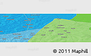 """Political Panoramic Map of the area around 14°15'49""""N,6°43'29""""W"""