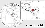 Blank Location Map of Jacaleapa