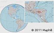Gray Location Map of Jacaleapa, hill shading