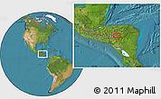 Satellite Location Map of Jacaleapa