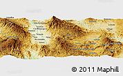 Physical Panoramic Map of El Sitio