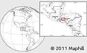 Blank Location Map of La Esperanza